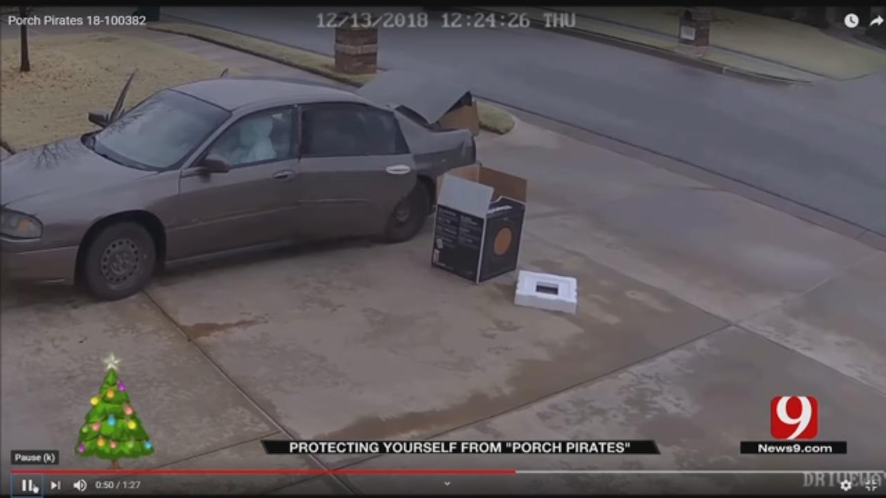 SW OKC Homeowner Captures Porch Pirates On Camera