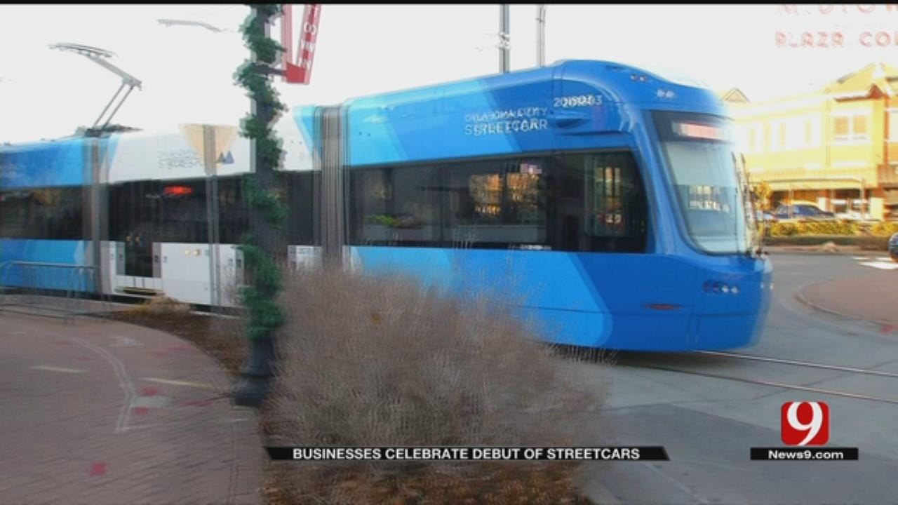 OKC Businesses Celebrate Debut Of Streetcars