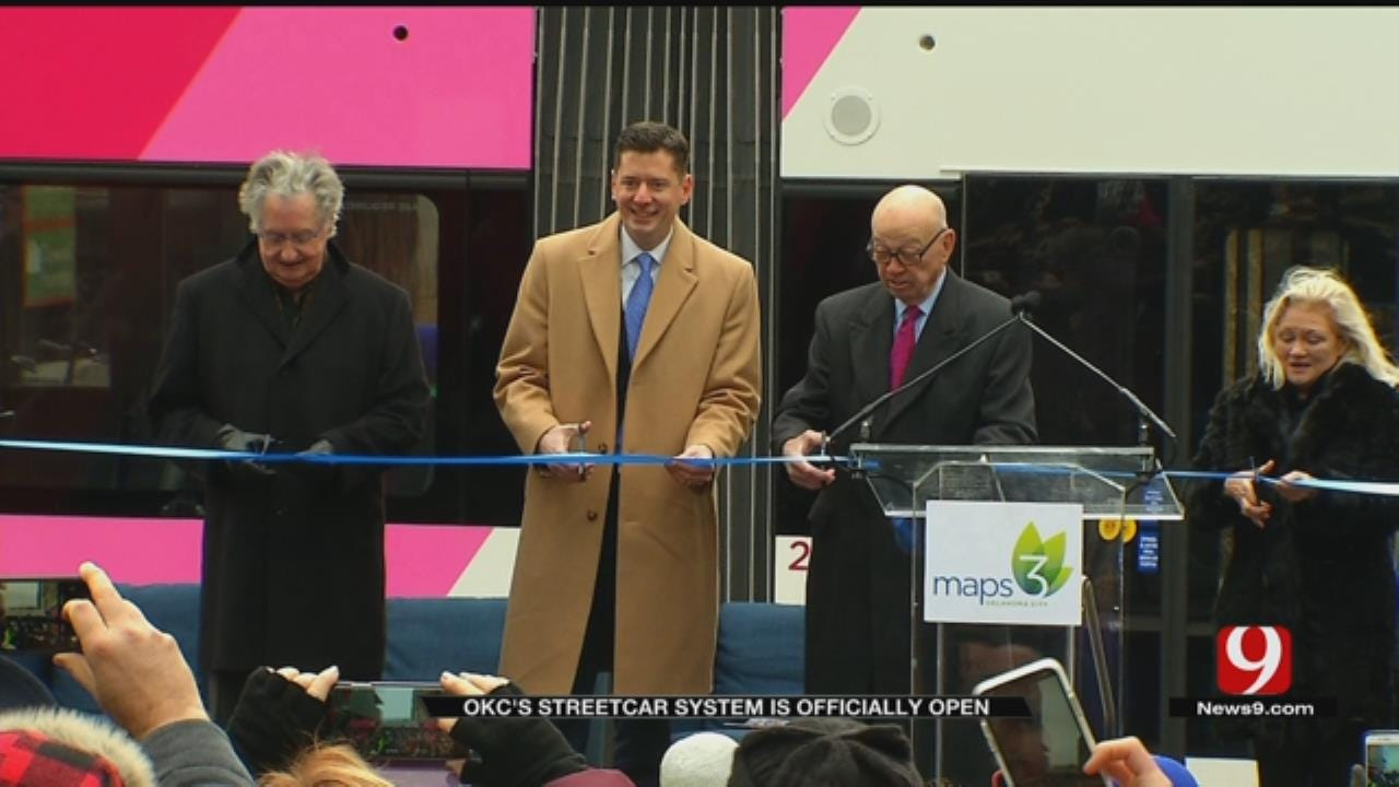 Streetcars Roll Out In Downtown Oklahoma City