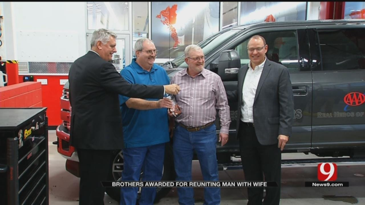 Brothers From Lawton Awarded For Reuniting Man With His Wife
