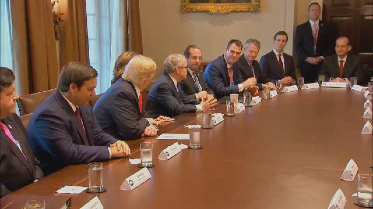 Governor-Elect Kevin Stitt Meets With President Trump At White House