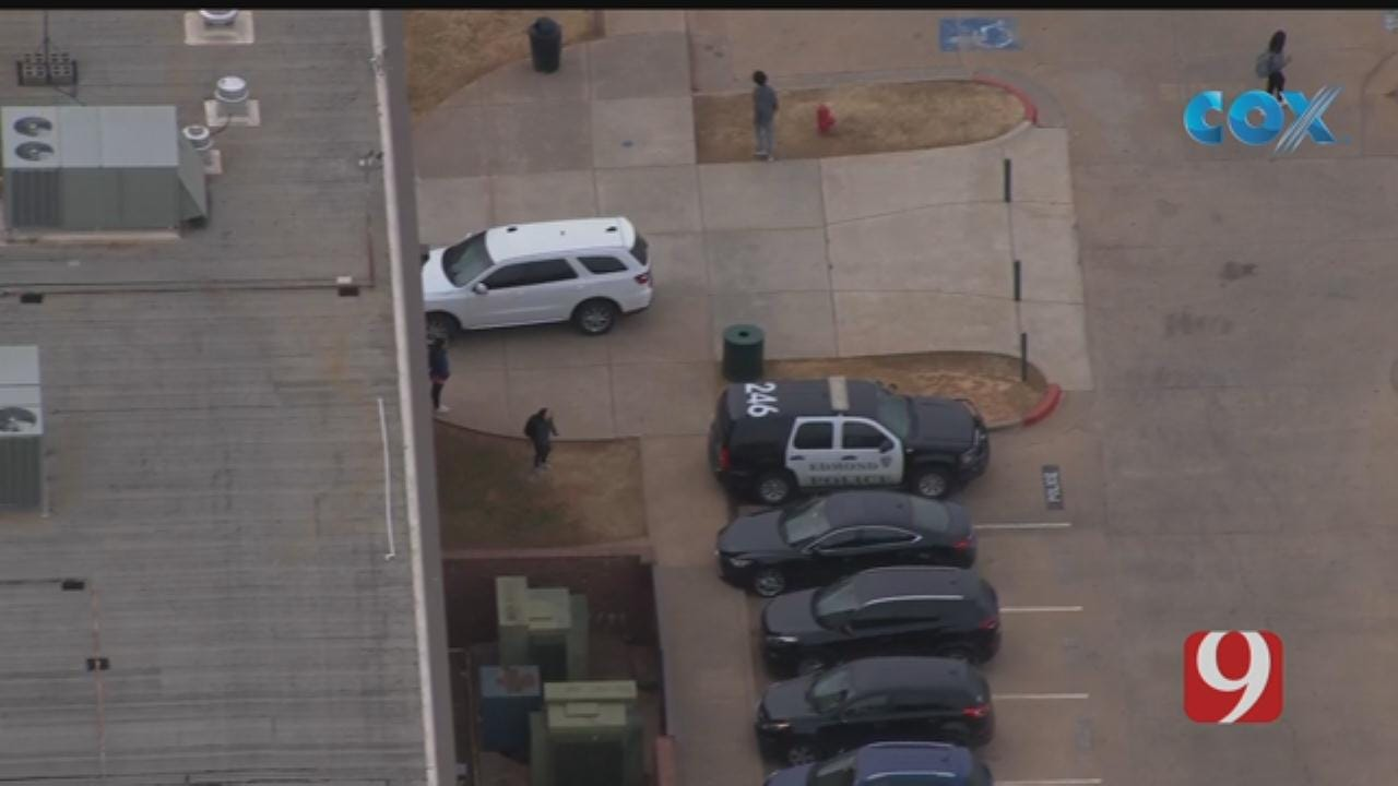Bob Mills SkyNews 9 Flies Over Gun Investigation At Edmond HS