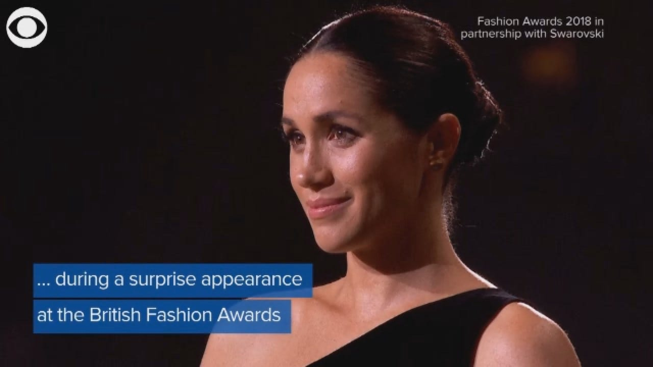 Meghan Markle Makes Surprise Visit To The British Fashion Awards