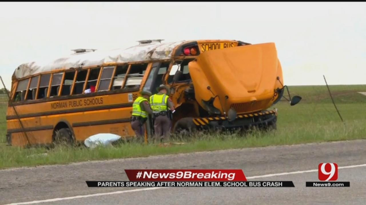 Parents Speaking After Norman Elementary School Bus Crash