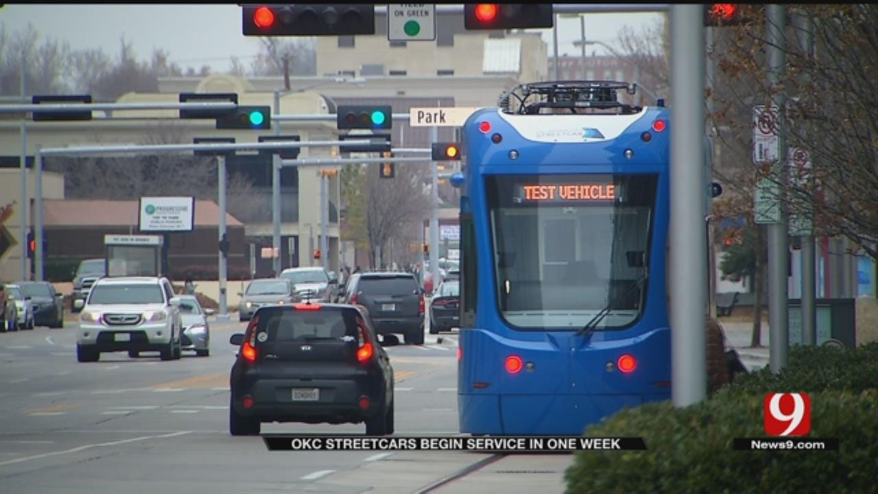 OKC Streetcar Service Begins In 1 Week
