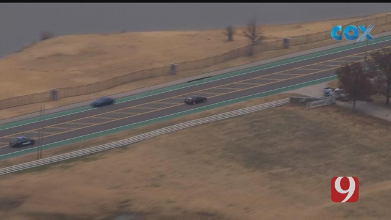 WATCH: Person Jumps Out Of Vehicle During Police Pursuit Through OKC Metro