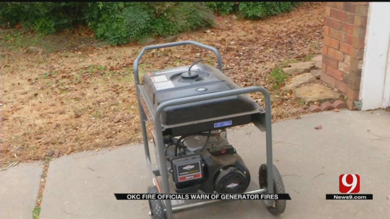 OKC Fire Officials Warn Of Generator Fires Prior To Winter Weather