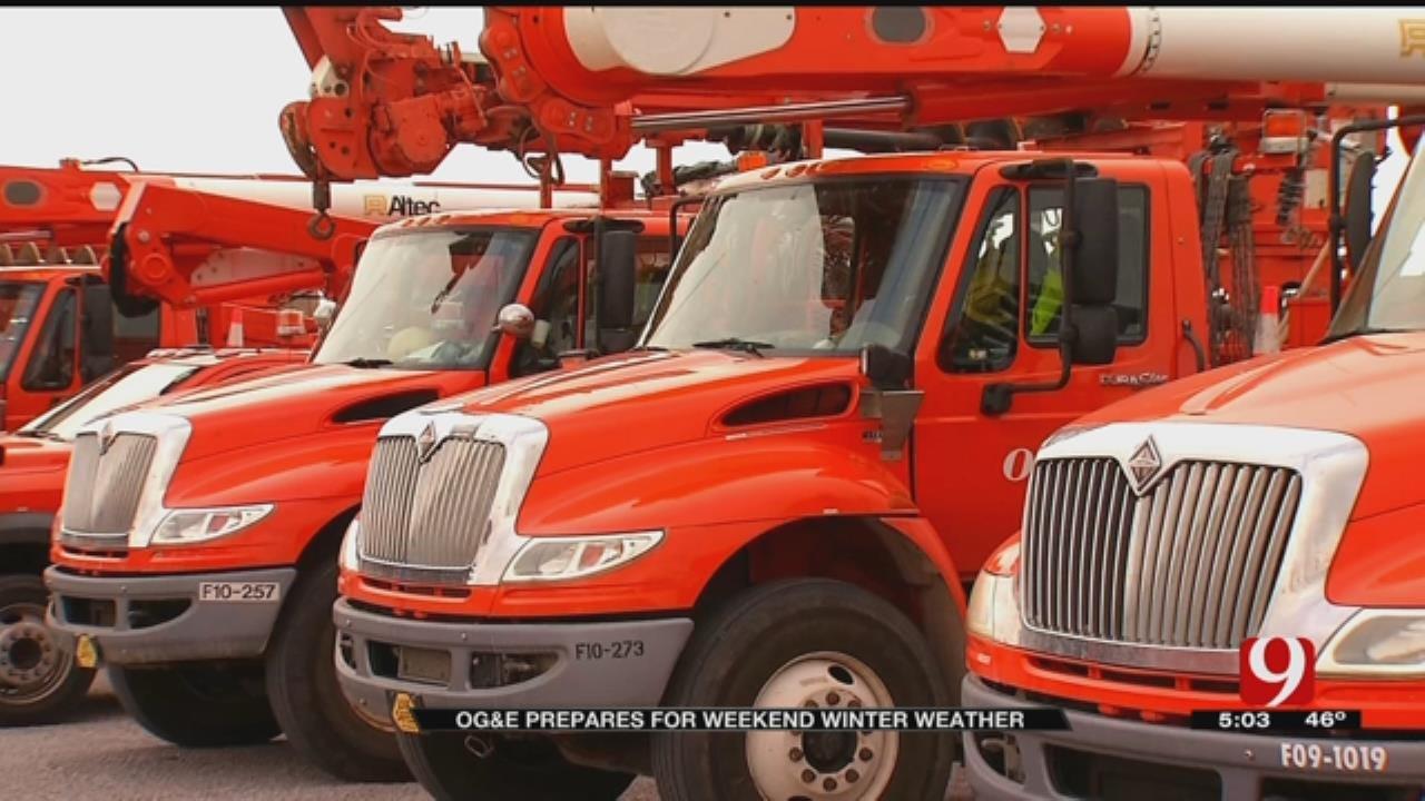 OG&E Preparing For Weekend Winter Weather Across Oklahoma