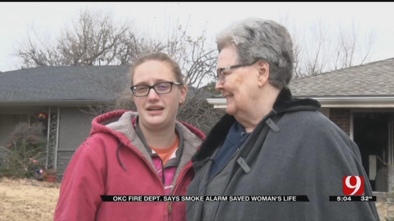 NW OKC Woman Survives House Fire, Thanks To Smoke Alarm