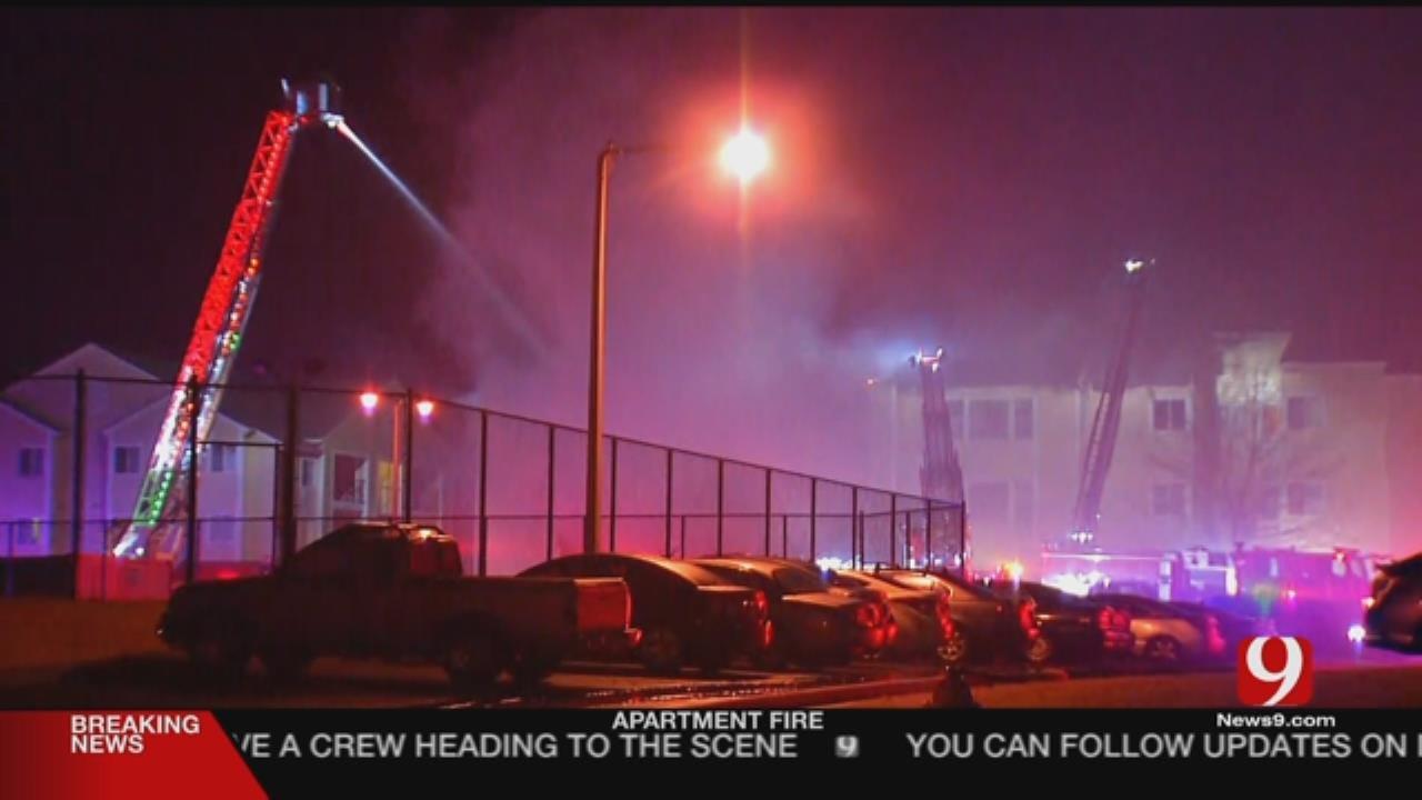 Firefighters Battling Norman Apartment Blaze
