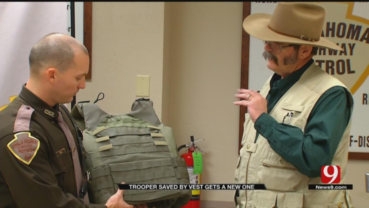 OHP Trooper Receives New Ballistic Vest After Talihina Shootout