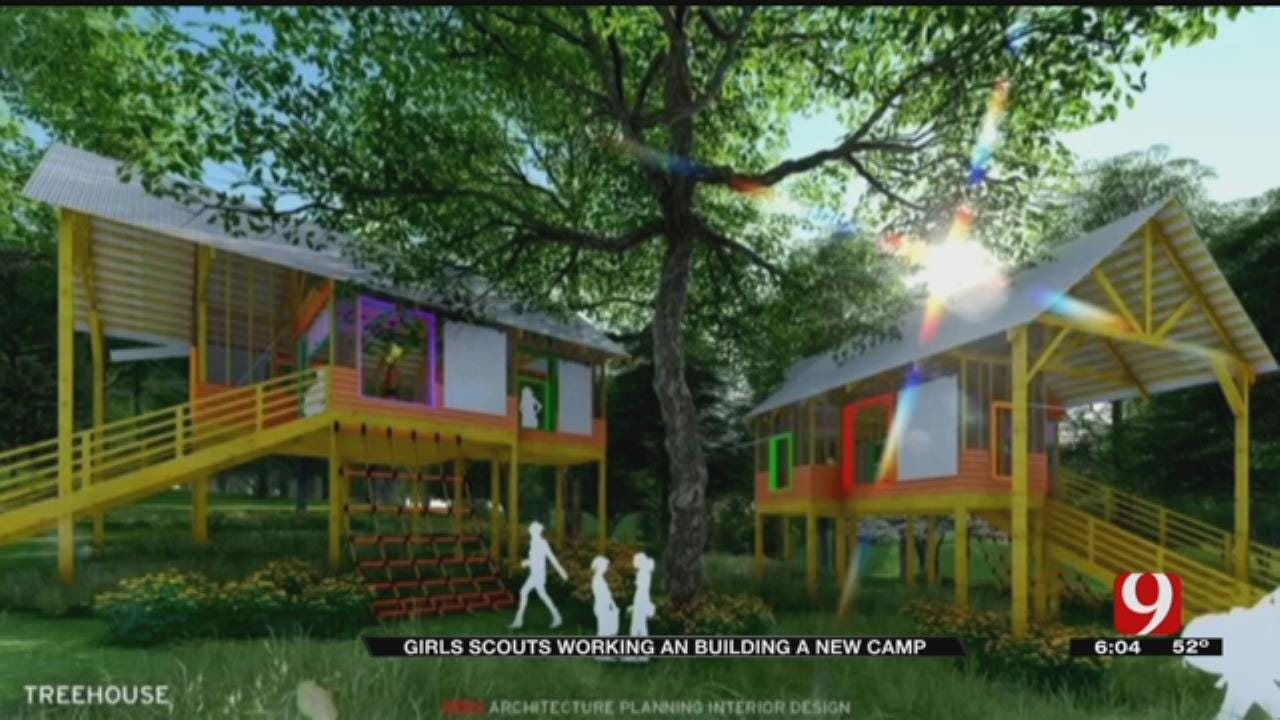 Girl Scouts Working On Building a New Camp Ground