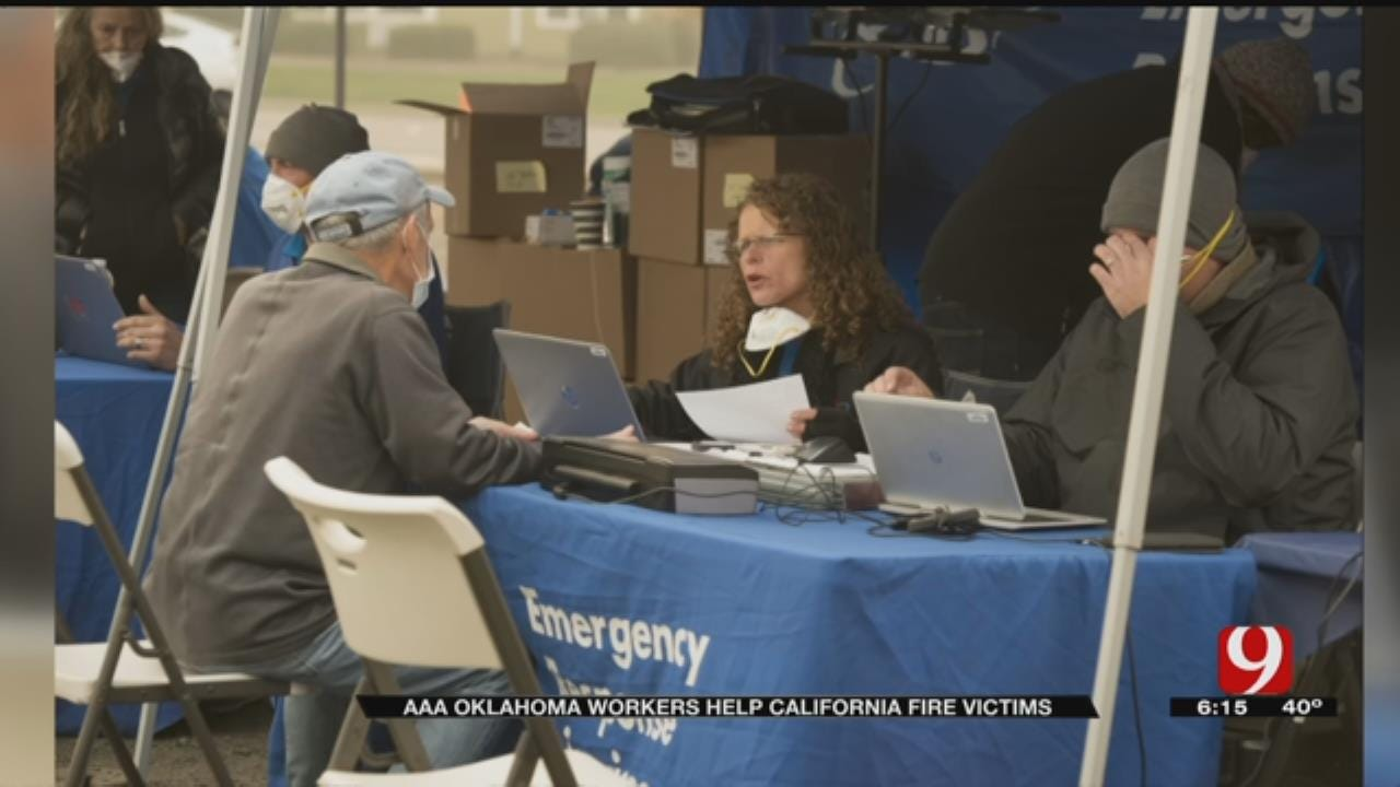 AAA Oklahoma Employees Helping California Wildfire Victims