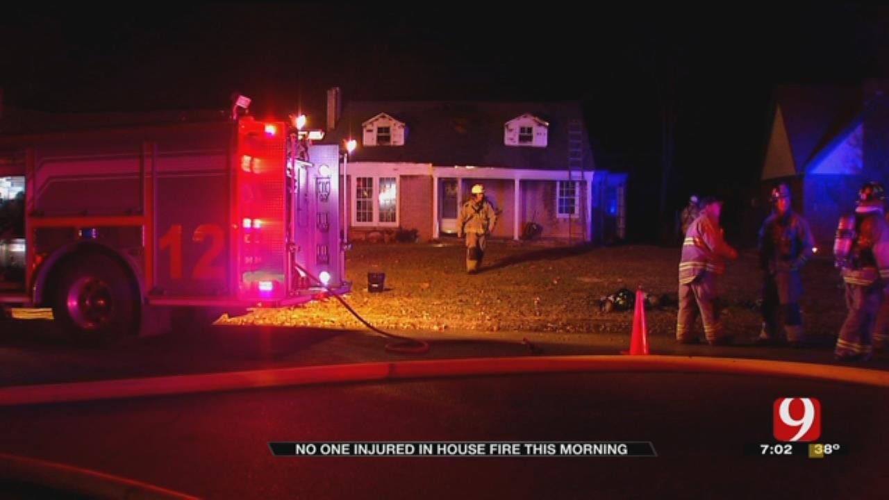 OKC Firefighters Battle Early Morning House Fire