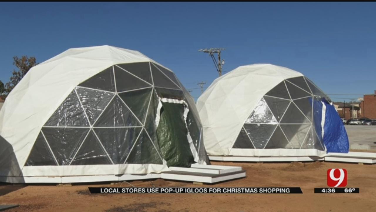 Local Stores Set Up Pop-Up Igloos For Christmas Shopping In Midtown