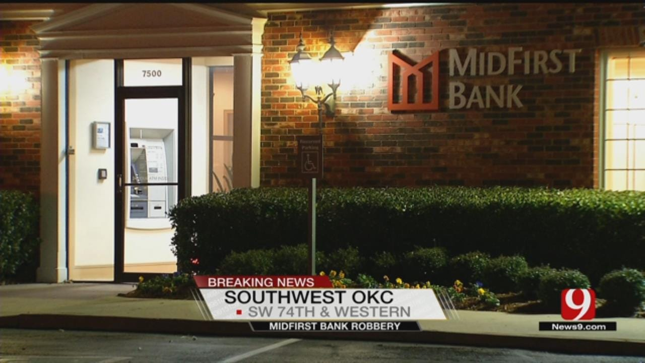 Police Respond After SW OKC Bank Robbed