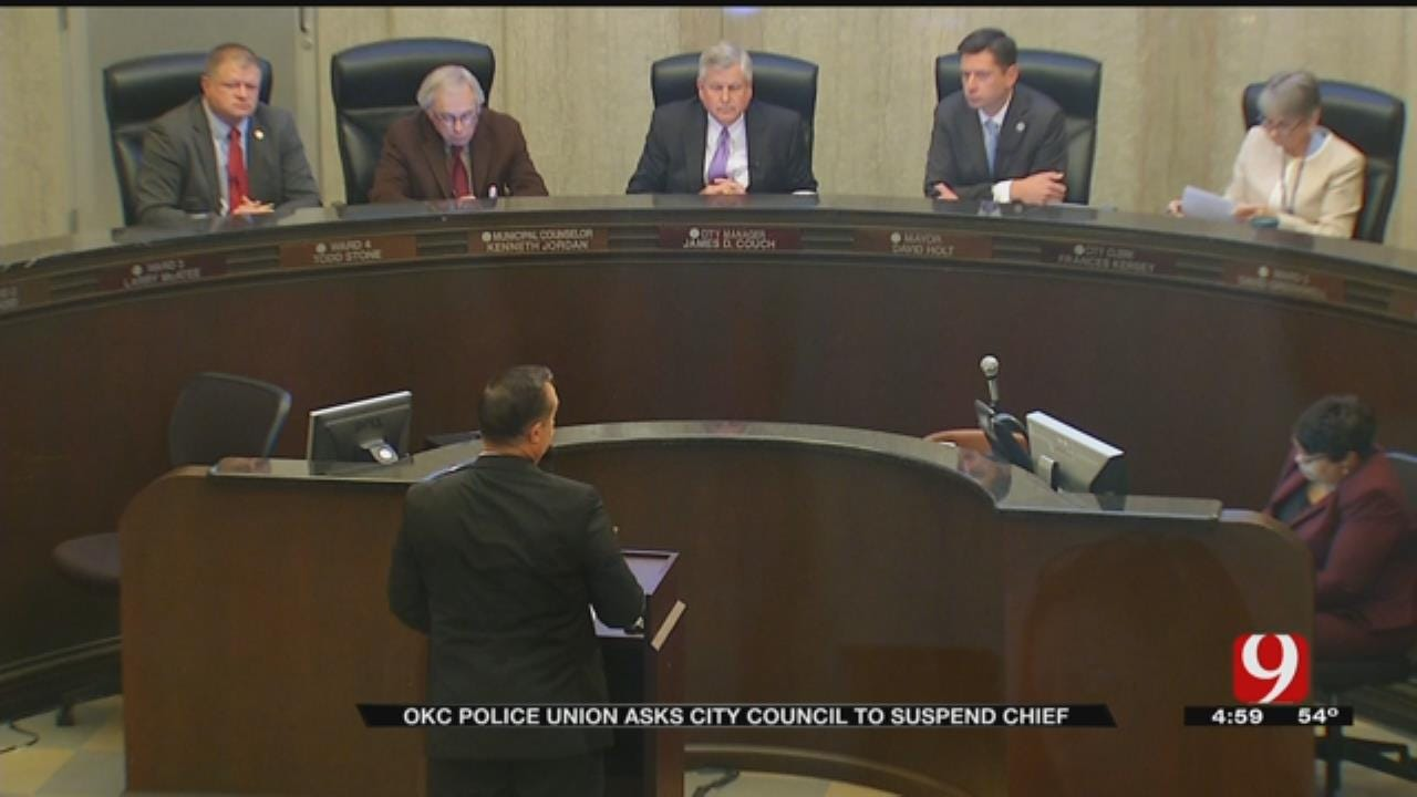 OKC Police Union Calls For Chief's Suspension