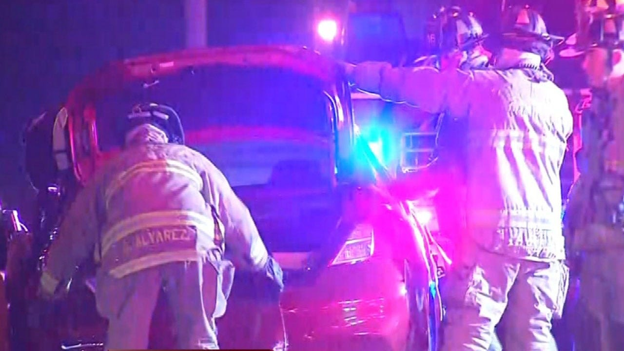 Woman Rescued From Vehicle After Accident In SW OKC
