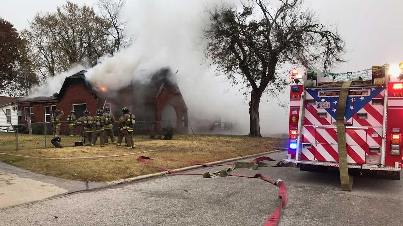Crews Battle Defensive House Fire In NE OKC