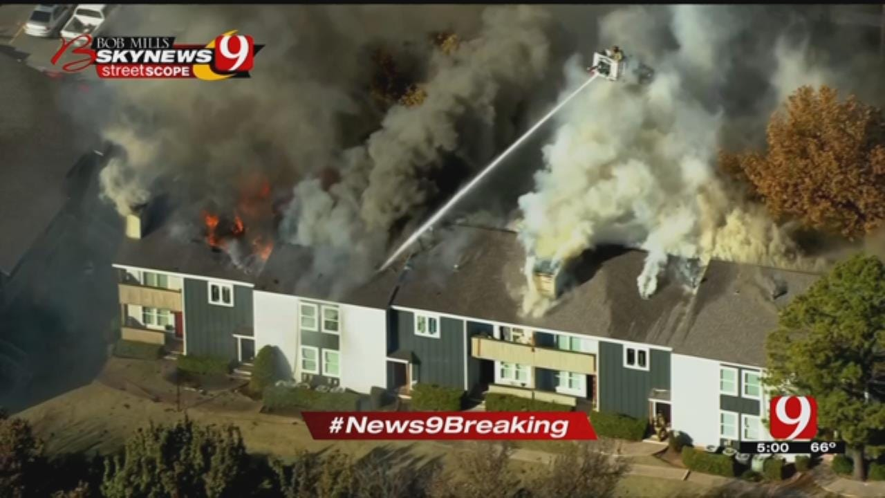 Multiple Units Destroyed After NW OKC Apartment Complex Catches Fire