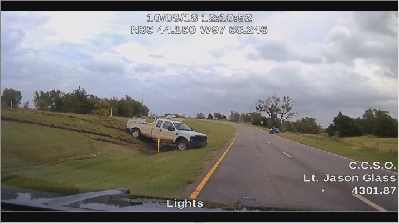 Dashcam Footage Shows Canadian County Chase, Officer-Involved Shooting