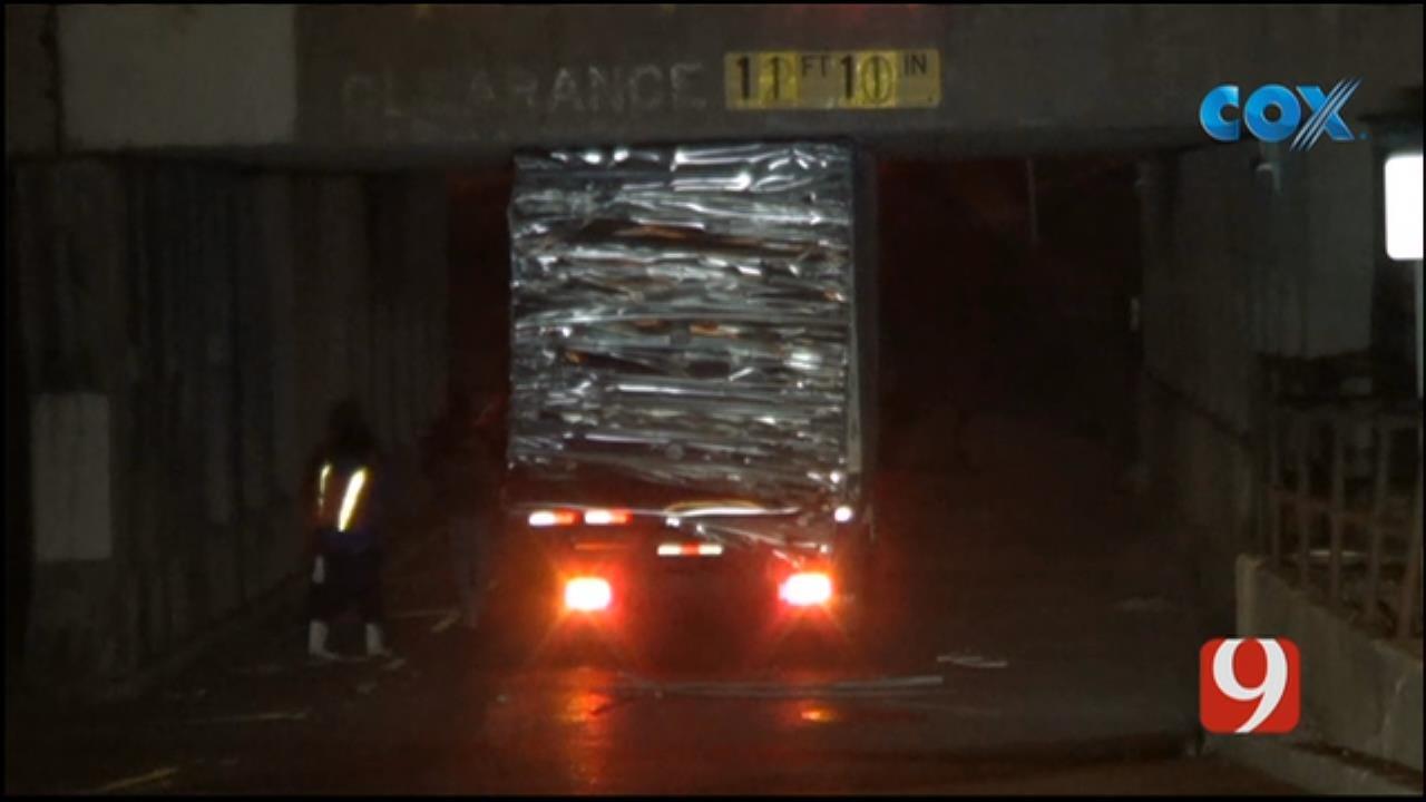 Crews Respond To Truck Stuck Under Bridge Near Midtown