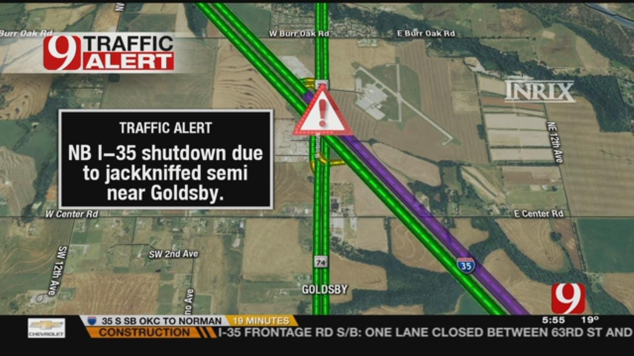 Semi Accident Causes Delays Near Goldsby