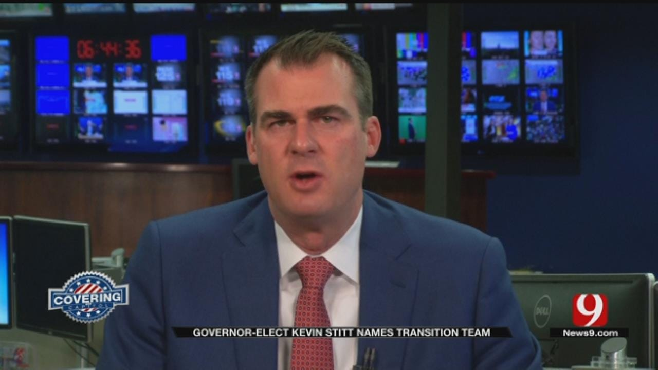 Governor-Elect Kevin Stitt Names 9 Members Of Transition Team