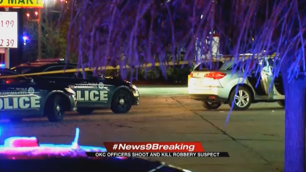 OKC Armed Robbery Suspect Shot, Killed In Officer-Involved Shooting