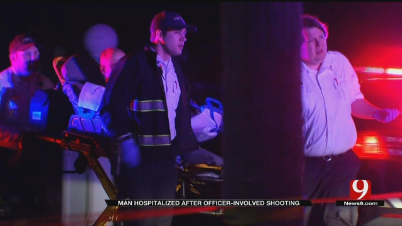 Man Hospitalized After Officer Involved Shooting In SW OKC
