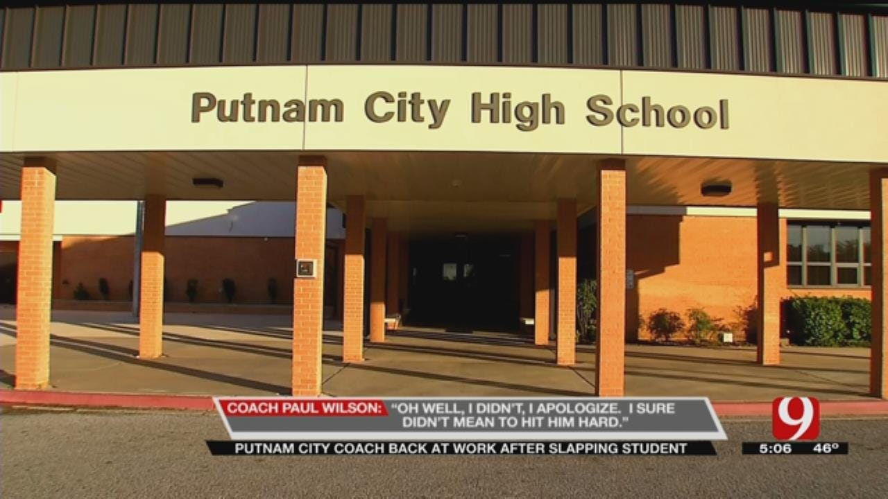Putnam City Coach Back At Work After Slapping Student