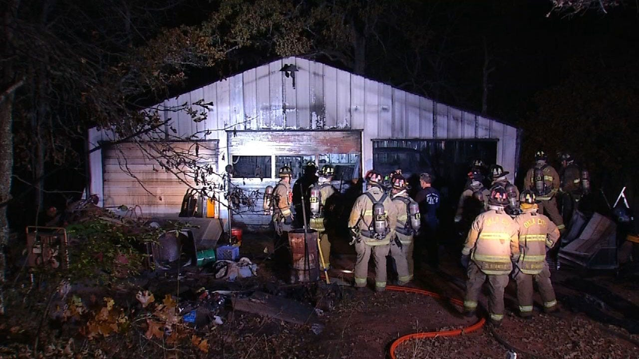 Crews Battle Barn Fire In Newalla