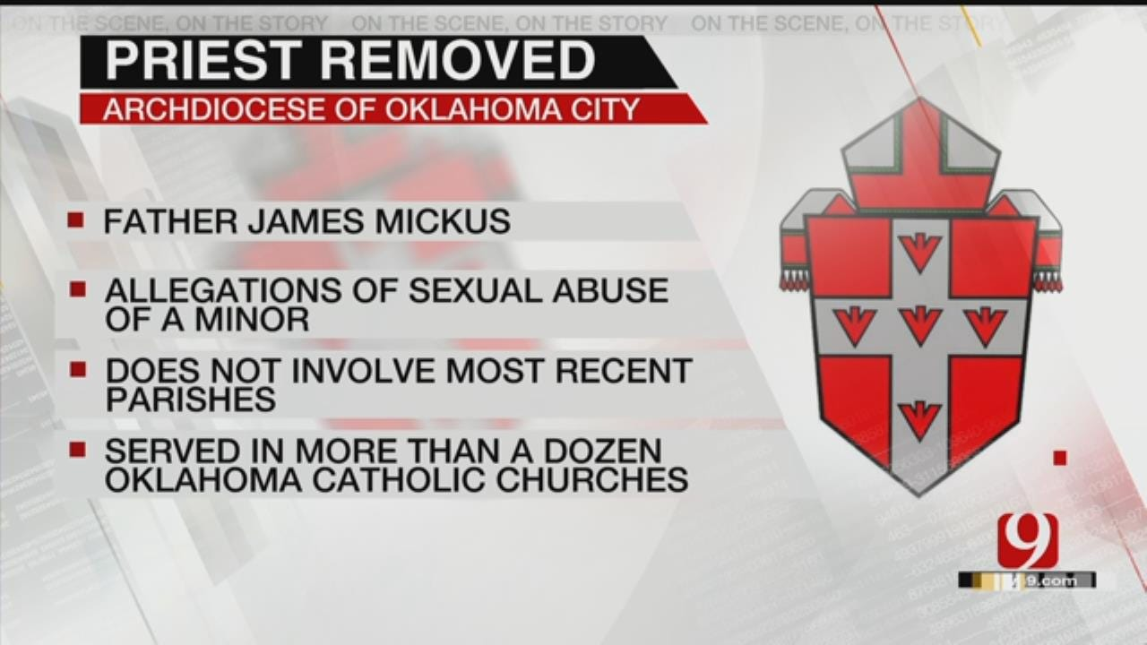 Catholic Priest Removed From Ministry Following Sexual Abuse Allegations