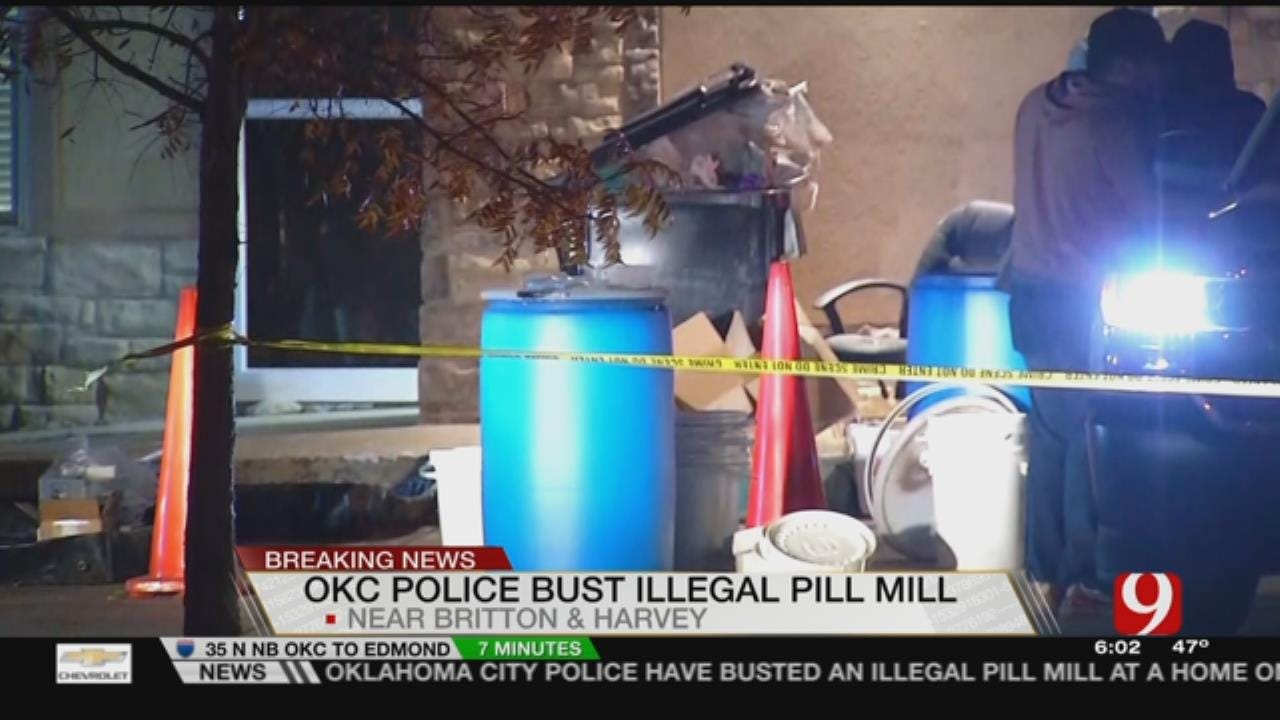 OKC Police Bust Illegal Pill Mill In NW OKC