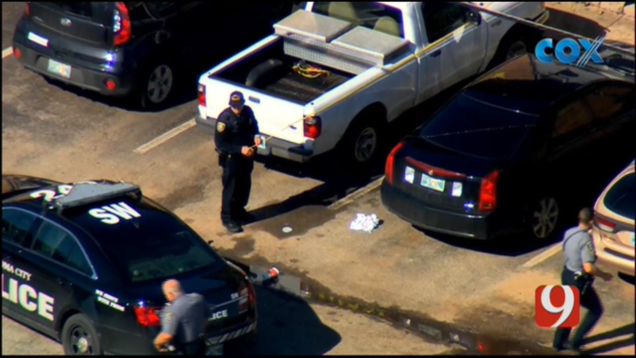 Bob Mills SkyNews 9 Flies Over Shooting Investigation At NW OKC Apartment Complex