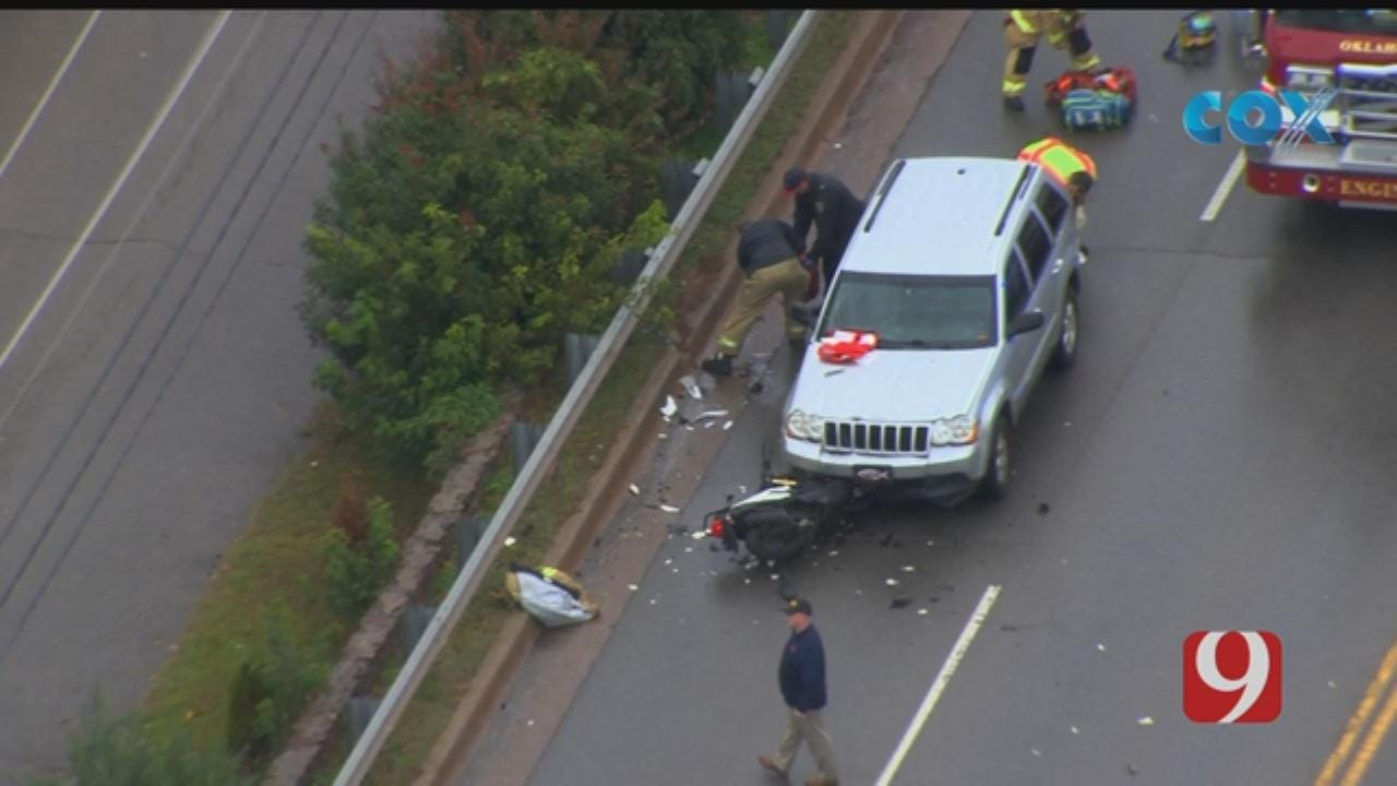 Bob Mills SkyNews 9 Flies Over Injury Crash In NW OKC
