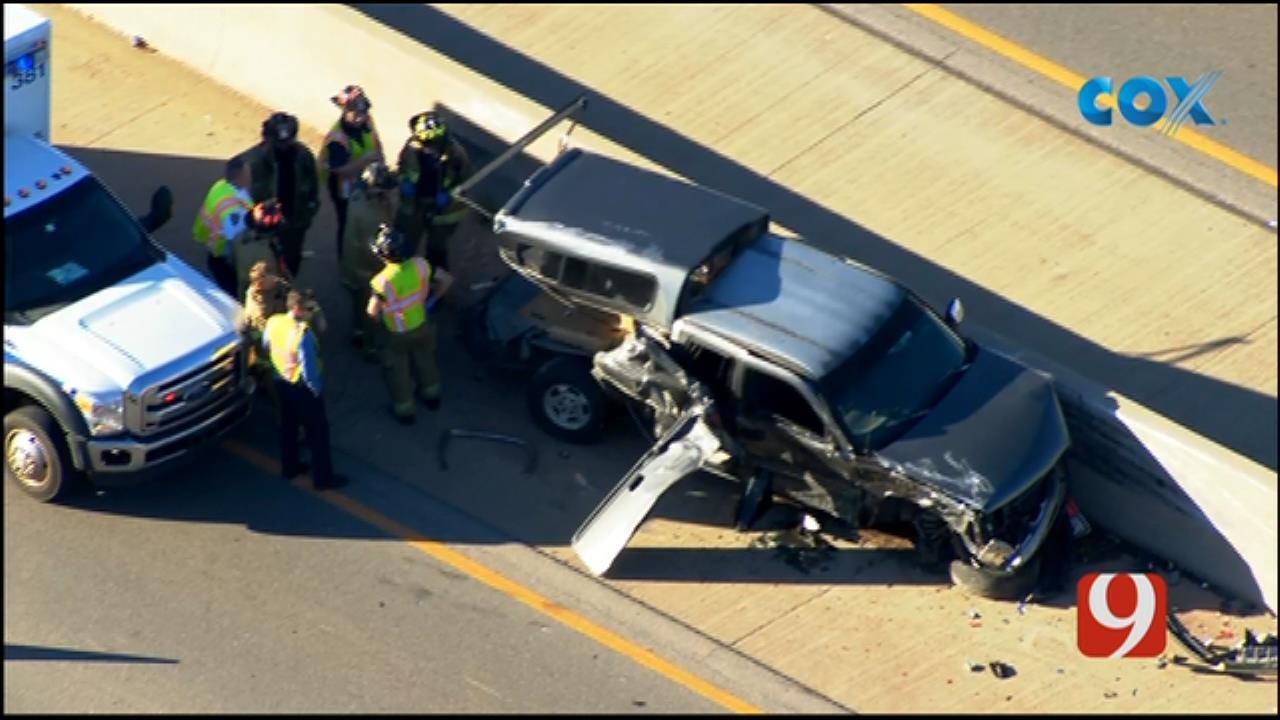 Crash Causes Traffic Backups On EB I-40 In W OKC