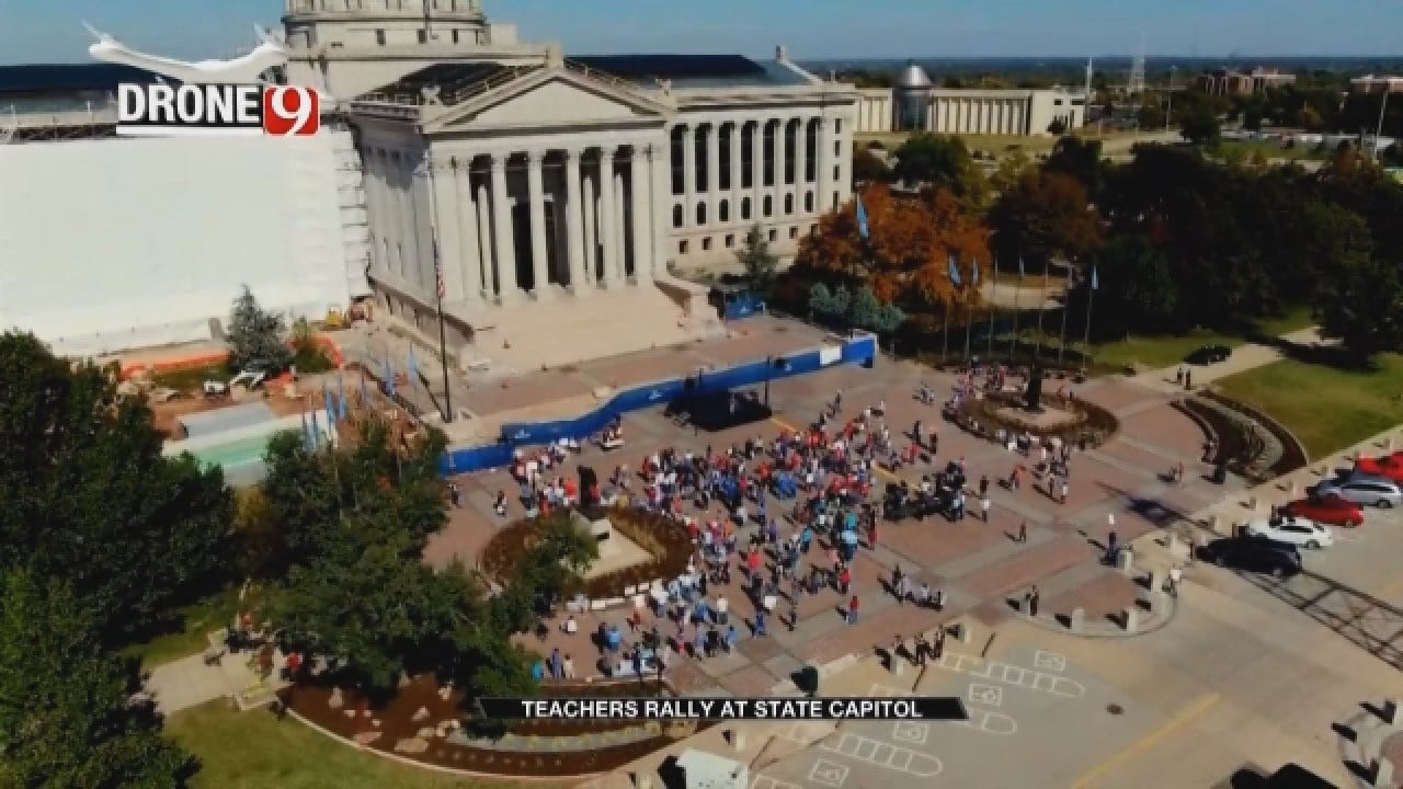 Teachers Rally At The Capitol Before Elections