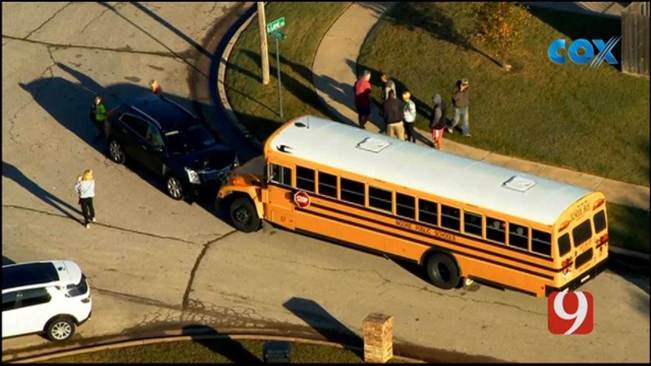 Officials Respond To Moore School Bus Crash