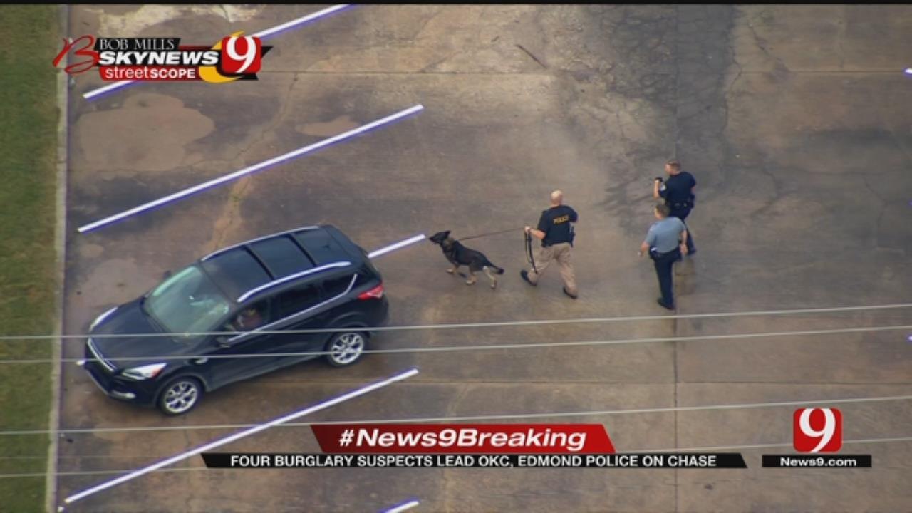 4 Burglary Suspects Lead OKC, Edmond Police On Chase