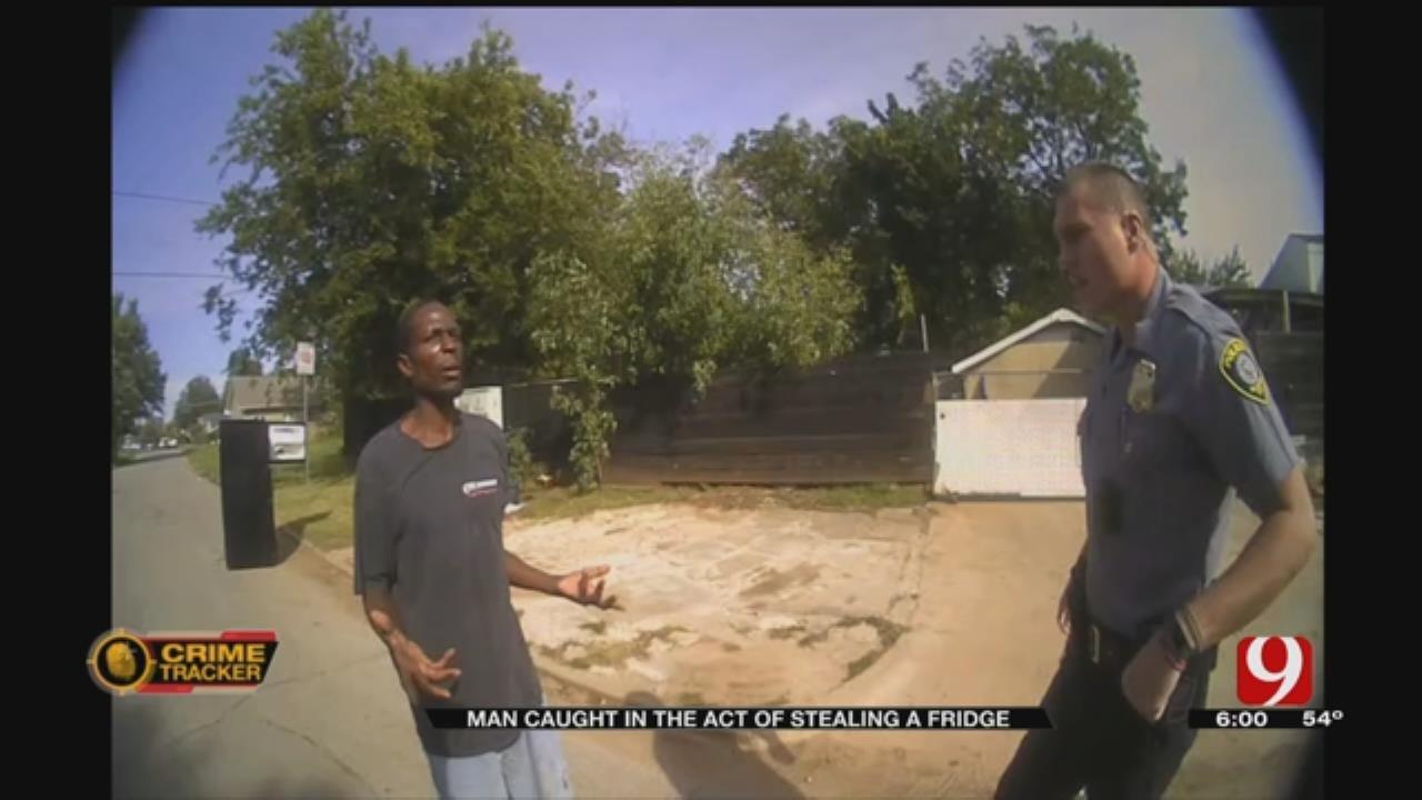 Man Caught Stealing A Fridge In NW OKC