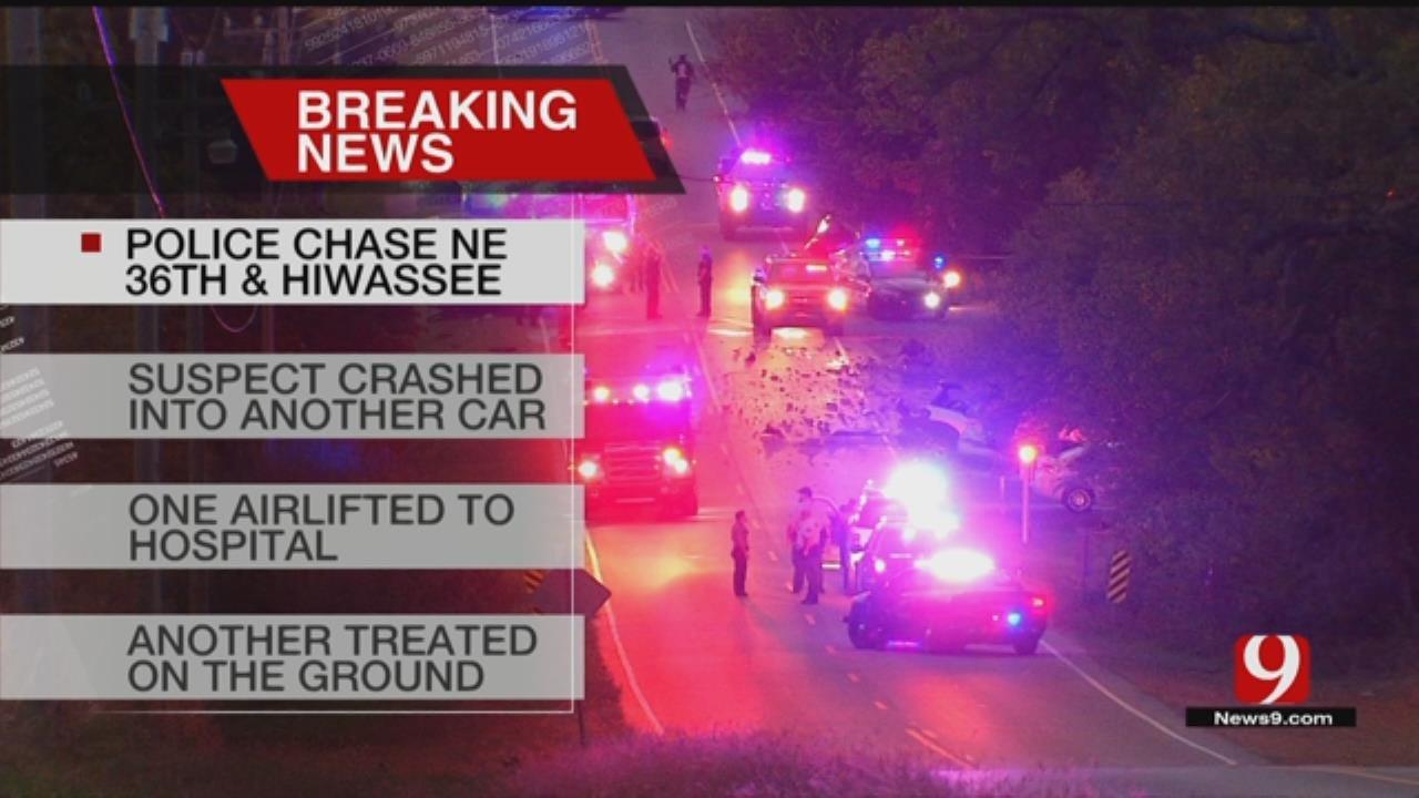 Multiple Crews On Scene Following Chase, Crash In NE OKC