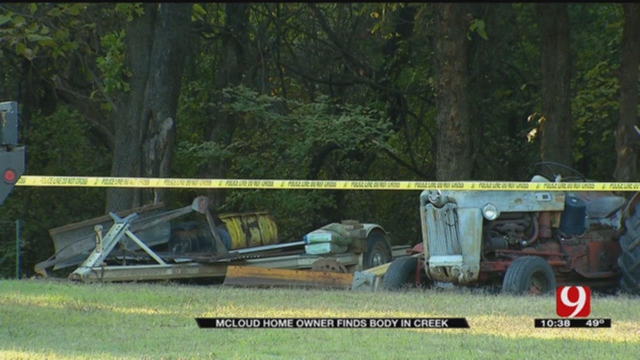 McLoud Police Investigate Body Found In Creek
