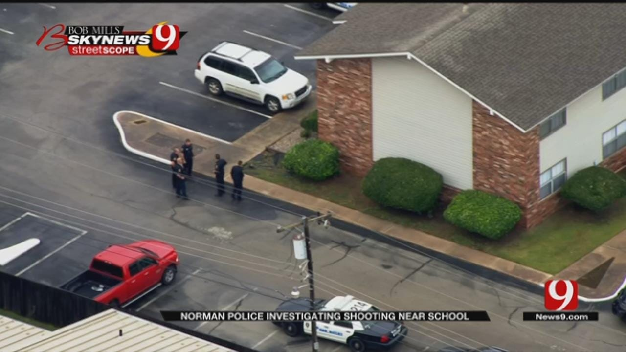 Police Investigating After 1 Shot Near School In Norman