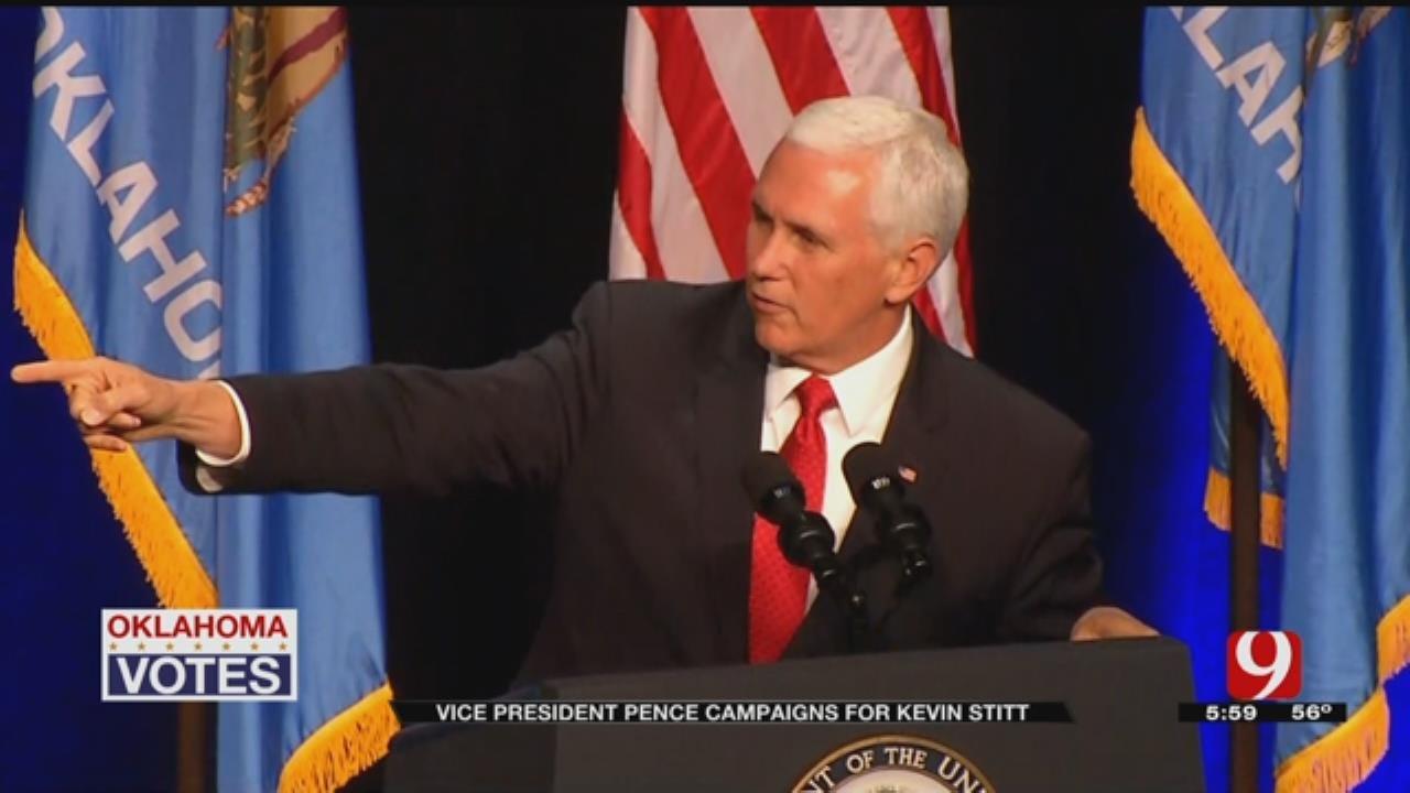 Vice President Formally Endorses Kevin Stitt During Tulsa Rally