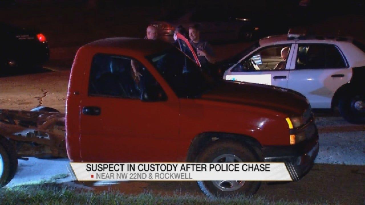 1 Taken Into Custody Following Pursuit Of Stolen Vehicle In NW OKC