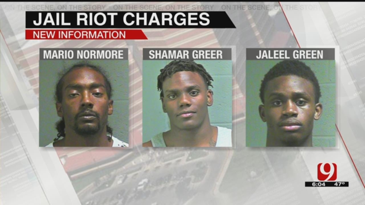 3 Inmates Charged In Oklahoma County Jail Riot