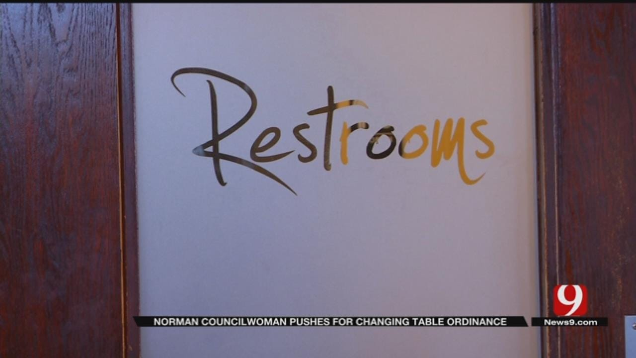 Norman Councilwoman Pushes For Changing Tables In Both Men's, Women's Restrooms