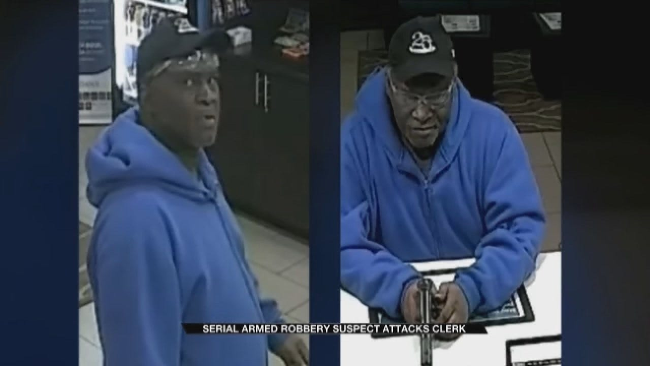 OKC Police Looking For Serial Robber After He Pistol-Whipped Motel Clerk