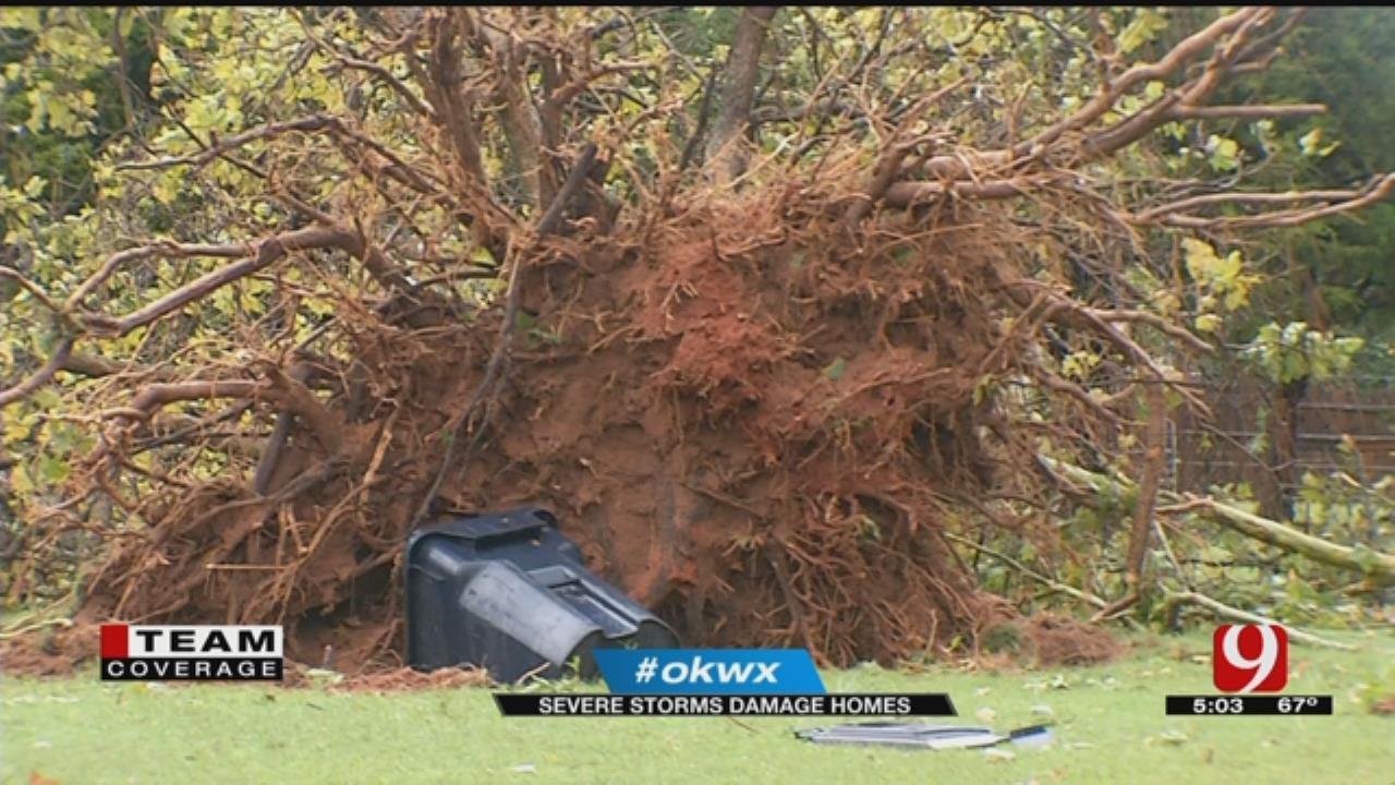 Tornado Uproots Trees, Peels Off Roof In SE OKC Neighborhood